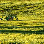 Farm Equipment In A Field Poster