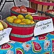 Farm Fresh Produce At The Farmers Market Poster