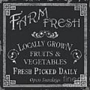 Farm Fresh Sign Poster