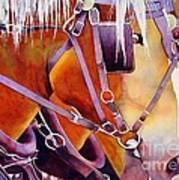 Farm Horses Poster by Robert Hooper