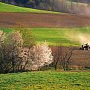 Farm Landscape Springtime Pennsylvania Poster