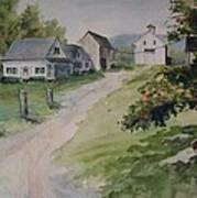Farm On Orchard Hill Poster