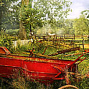 Farm - Tool - A Rusty Old Wagon Poster by Mike Savad