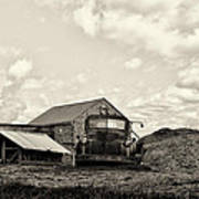 Farm Truck - 1941 Chevy In Sepia Poster