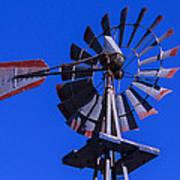 Farm Windmill Poster