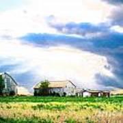Farmer's Field At Sundown Poster