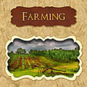 Farming And Country Life Button Poster