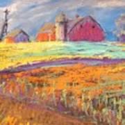 Farmland Sunset Poster