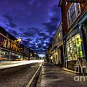 Farnham West St By Night Poster