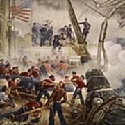 Farragut On The Hartford At Mobile Bay Poster