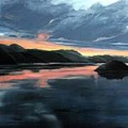 Farsund Sunrise Poster by Janet King