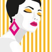 Fashion Girl. Bold, Minimal Style. Pop Poster
