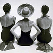 Fashion Models In Swim Suits, 1950 Poster