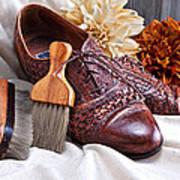 Fashionable Italian Shoes Still Life Poster