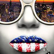 Fashionista New York Silver Poster