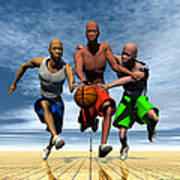 Fast Break On An Even Playing Field Poster