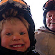 Father And Son At Big Mountain Poster