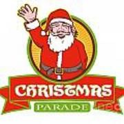 Father Christmas Santa Claus Parade Poster