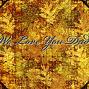 Father's Day Greeting Card Iv Poster