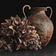 Faux Flower Still Life Poster