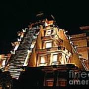 Faux Myan Pyramid Poster