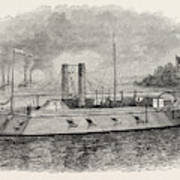 Federal Iron-clad River Gunboat, American Civil War Poster