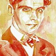 Federico Garcia Lorca Portrait Poster