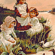 Feeding Ducks Poster