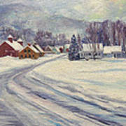 Felchville Village In The Snow Poster