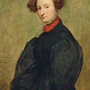 Felicie De Fauveau, 1829 Oil On Panel Poster