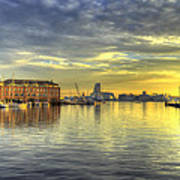 Fells Point Harbor Sunset Baltimore Maryland   Poster