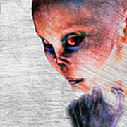 Female Alien Portrait Poster