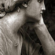 Female Angel Face Closeup - Female Angelic Face Portrait Poster