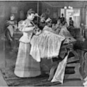 Female Barber-shop, 1895 Poster