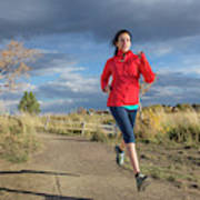 Female Runner In Colorado Poster