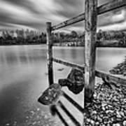Fence In The Loch  Poster by John Farnan