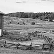 Fence Line Monochrome Poster
