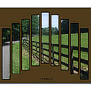 Fenced Pasture Poster