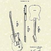 Fender Guitar 1951 Patent Art Poster