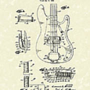 Fender Guitar 1961 Patent Art Poster