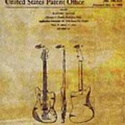 Fender Guitar Patent On Canvas Poster