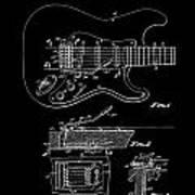 Fender Guitar Tremolo Patent Art 1956 Poster