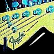 Fender Head In Watercolor Photo Poster