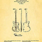 Fender Jazzmaster Guitar Design Patent Art 1959 Poster
