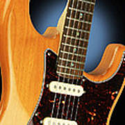 Fender Stratocaster Electric Guitar Natural Poster
