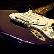 Fender Stratocaster In Blue Poster