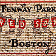 Fenway Park Boston Redsox Sign Poster by Bill Cannon