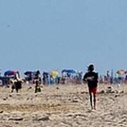 Beach Scene - Fenwick Island Delaware Poster