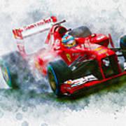 Fernando Alonso Of Spain Poster