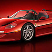 Ferrari F50 - Flare Poster by Marc Orphanos